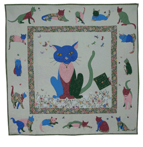 Kitty Cat's Country Garden Quilt